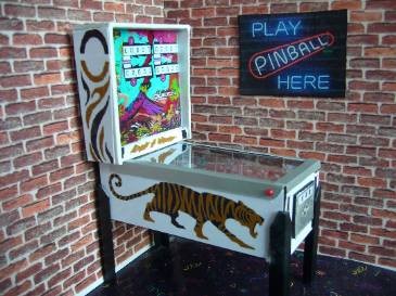 Jungle Queen 1/12th Scale Miniature Pinball Table Model